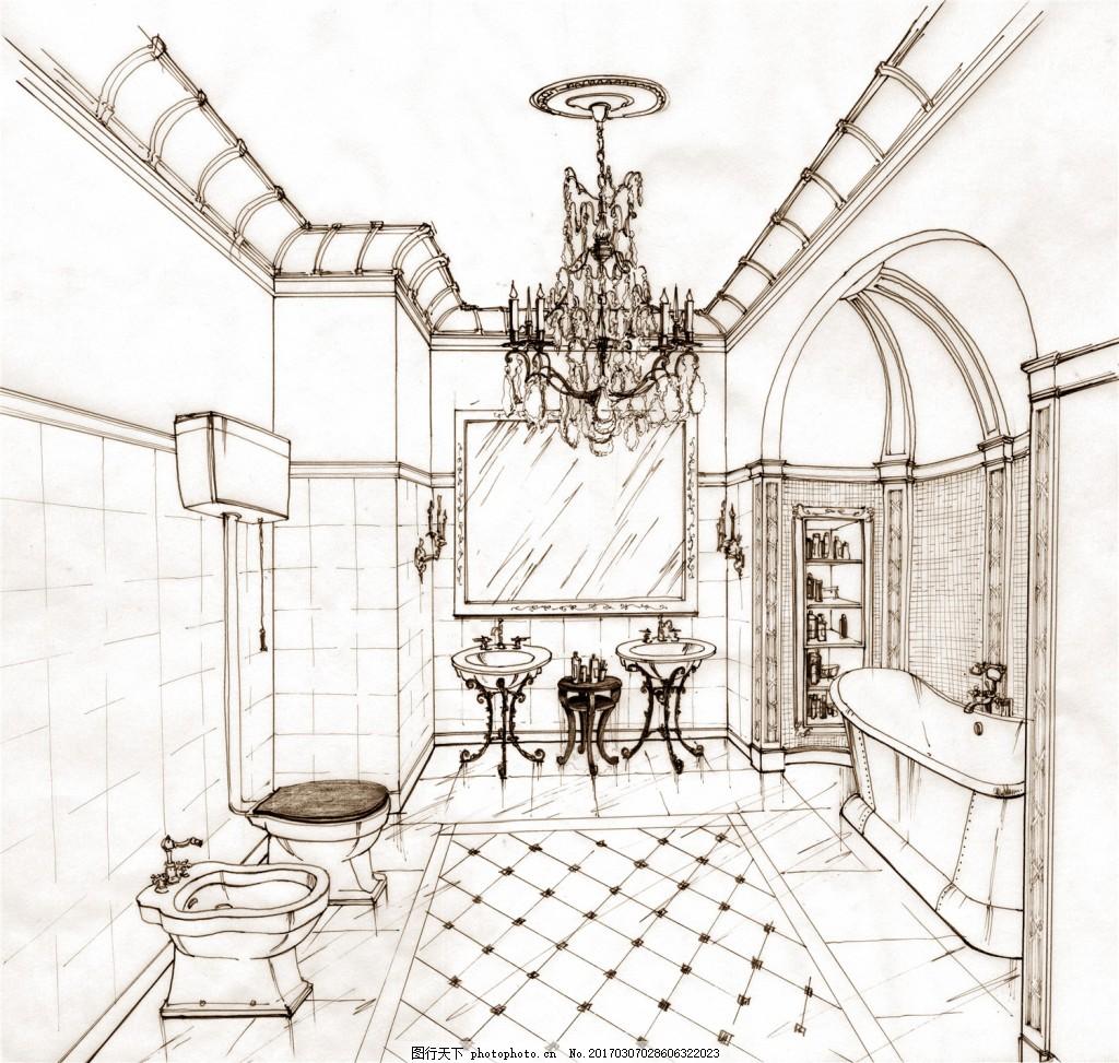 欧式家装效果图 建筑平面图素材免费下载 手绘图 图纸 建筑 平面图