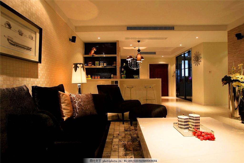 欧式装修效果图 电视墙 灰色 简欧 客厅 欧式装修效果图设计素材