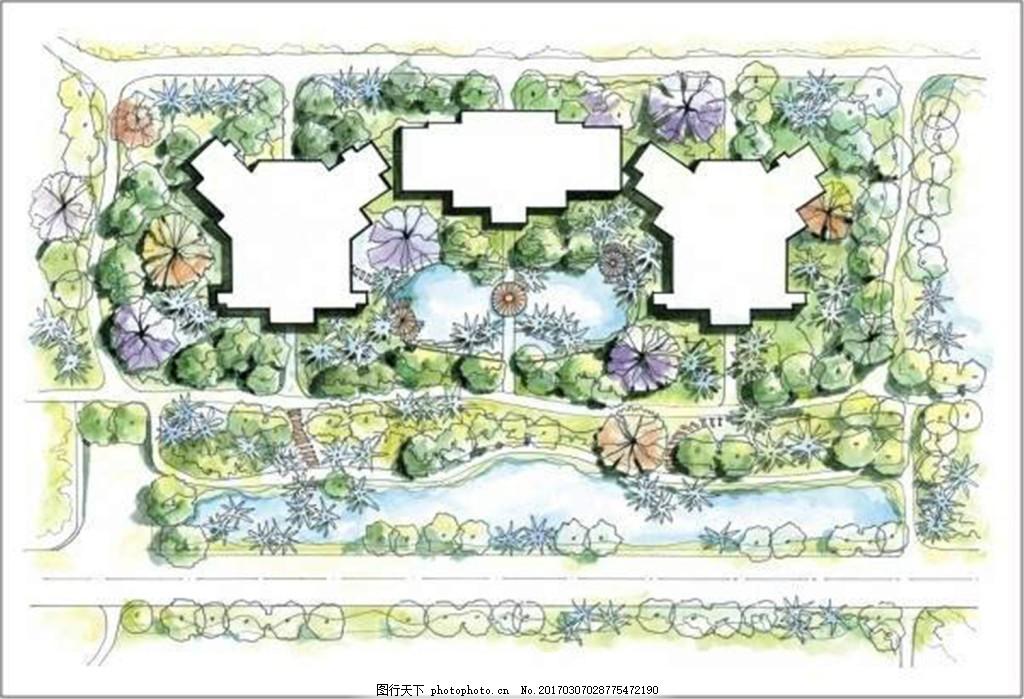 园林平面图 园林景观图片免费下载 房地产广告 房地产效果图 广告设