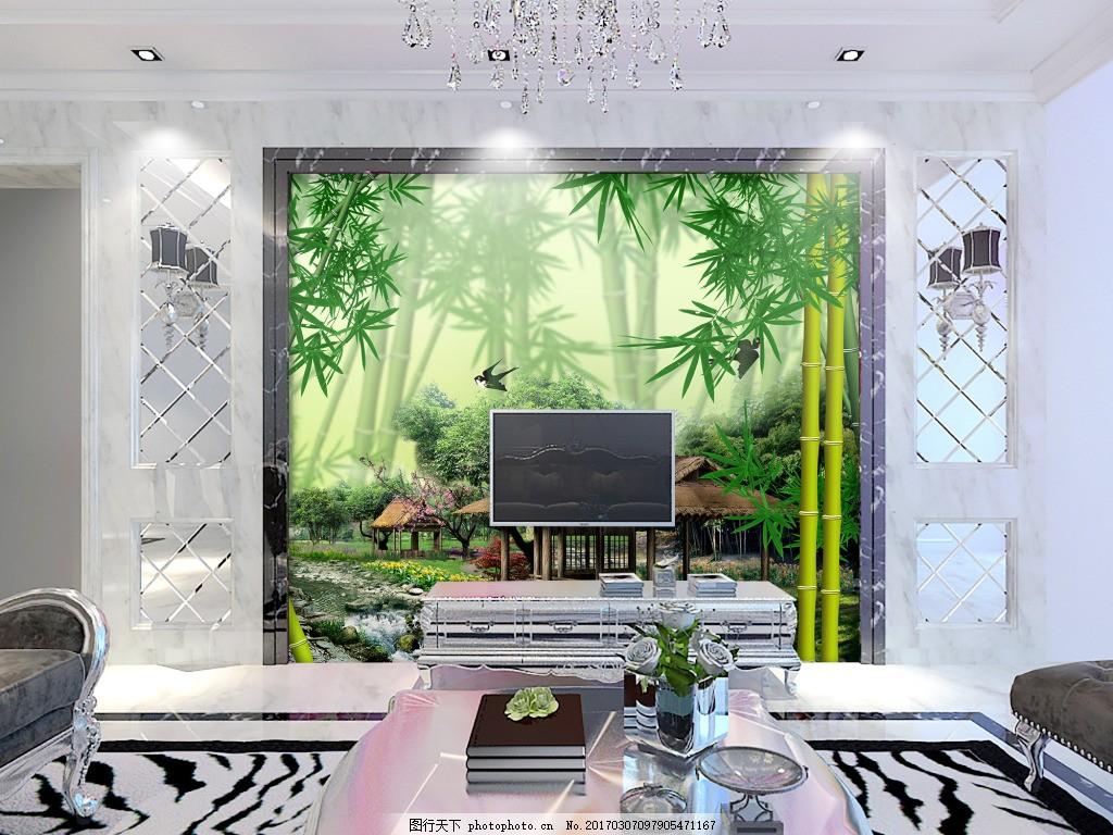 竹林风景背景墙,装饰背景 壁纸 高分辨率图片 高清-图