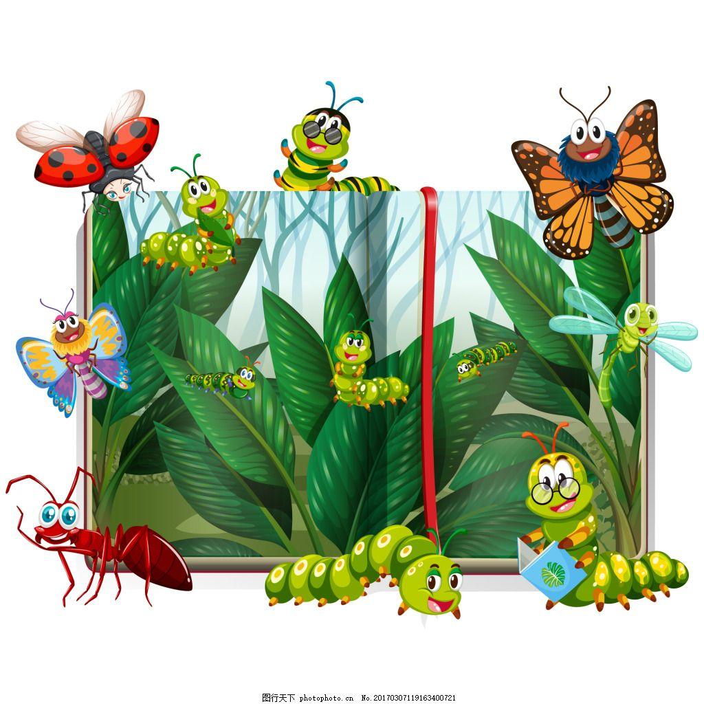 元素 设计素材 创意设计 动物 小动物 卡通 可爱 矢量素材 ai 昆虫
