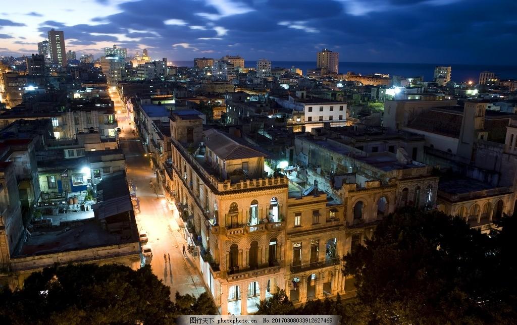古巴哈瓦那 风景 名胜古迹 都市风景 城市风景 景色 国外建筑