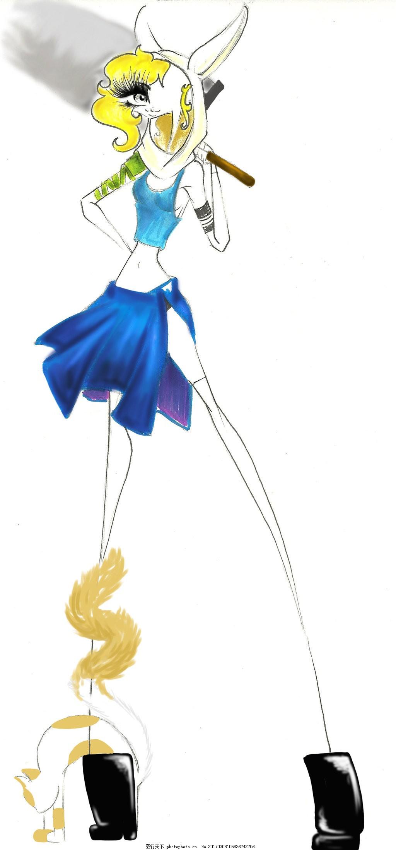 蓝色背心短裙设计图 服装设计 时尚女装 职业女装 职业装 女装设计