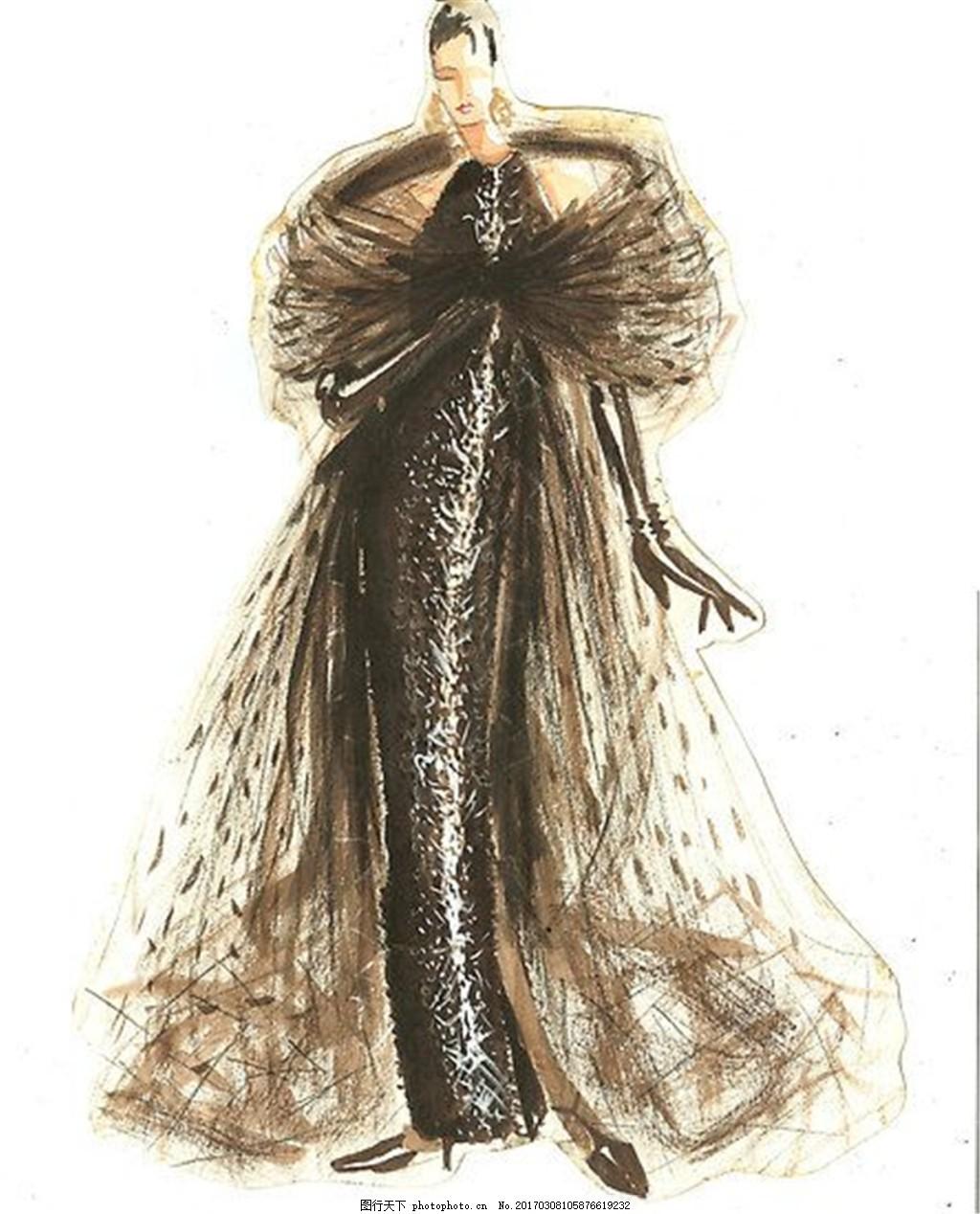 长裙礼服设计图