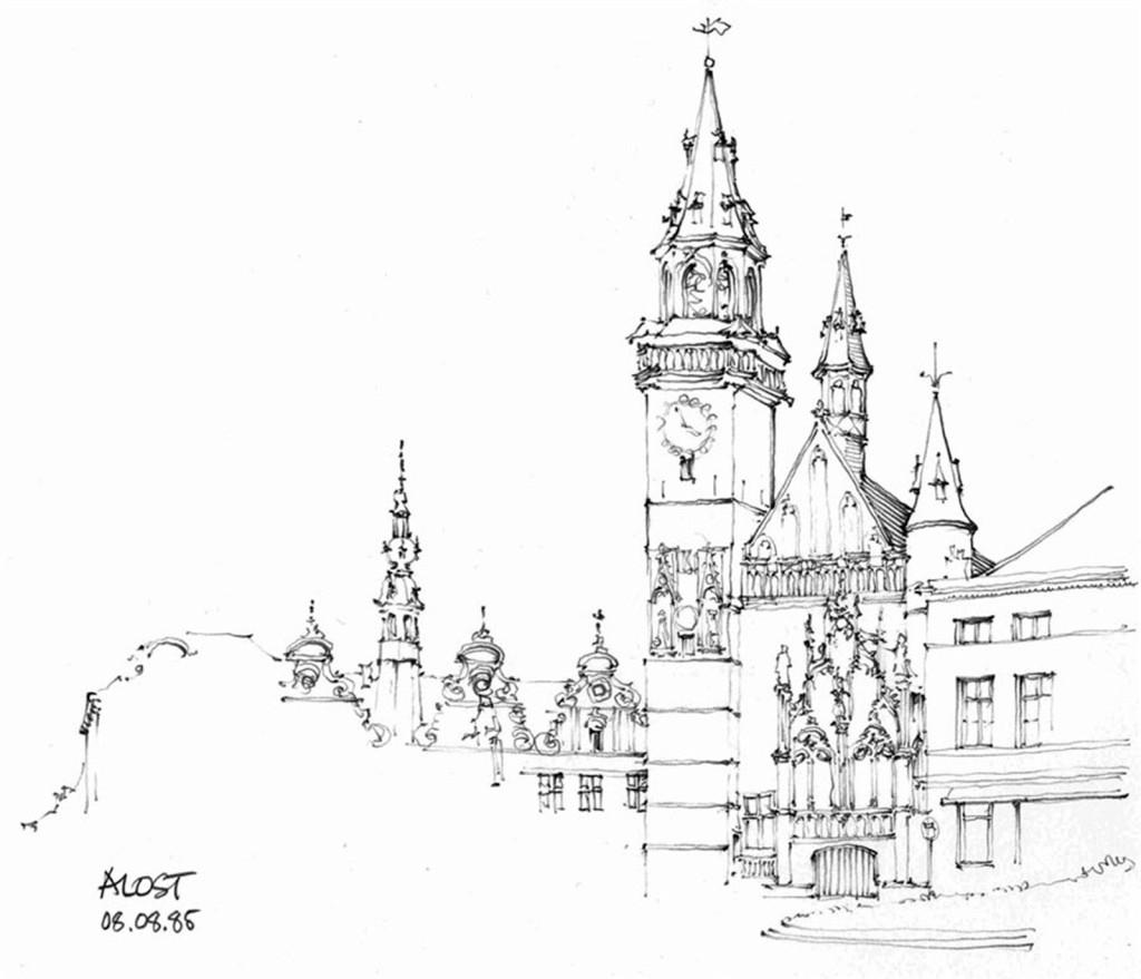 欧式建筑平面图 建筑效果图素材免费下载 手绘图 图纸 城堡 建筑施工