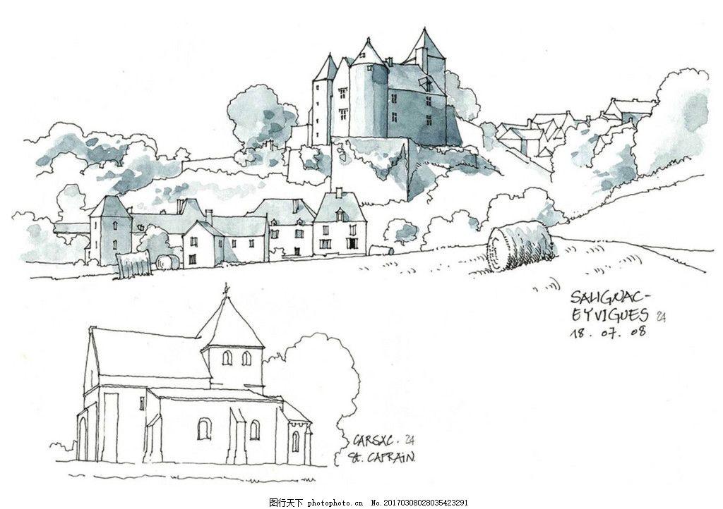 城堡建筑效果图