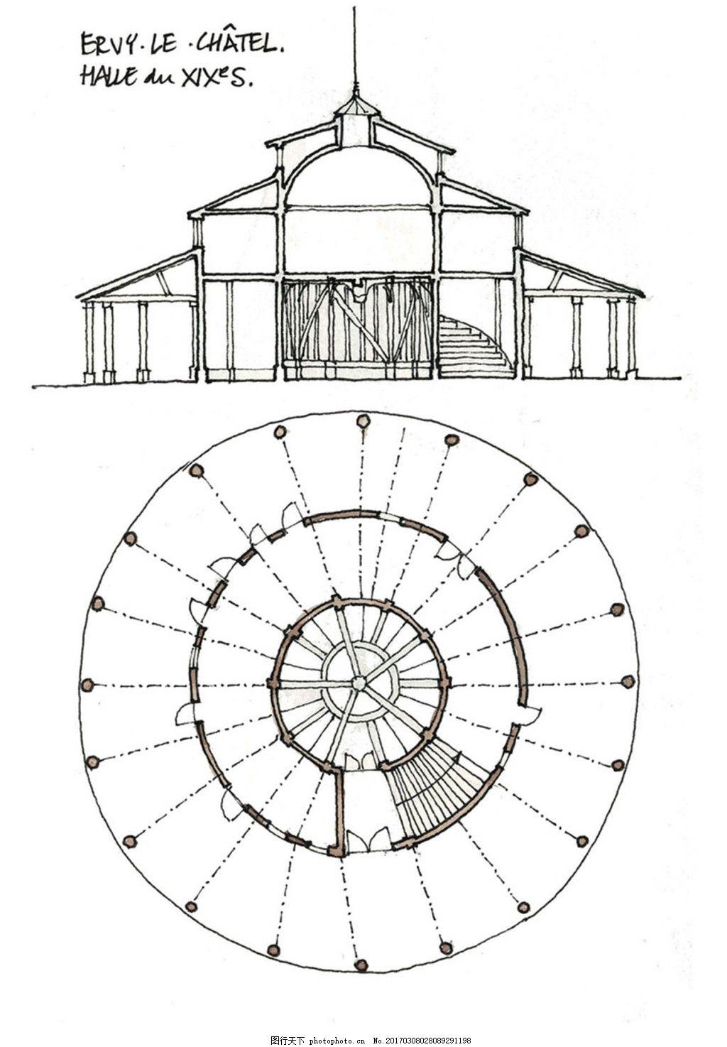 欧式圆环建筑效果图
