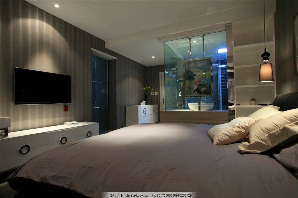 卧室装修效果图图片素材 室内设计 室内装饰效果图 室内装潢 时尚家居