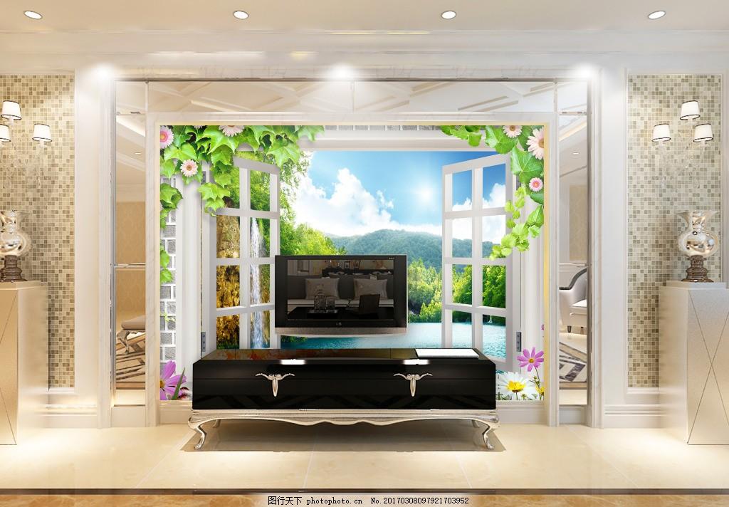 窗户户外风景背景墙 装饰背景 壁纸 高分辨率图片 高清大图 建筑