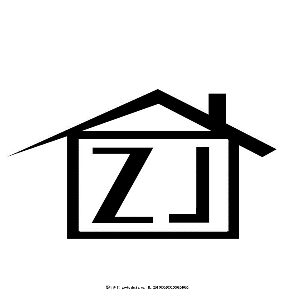 zj      透明底 黑白 小房子 白底黑字 设计 psd分层素材 psd分层素材