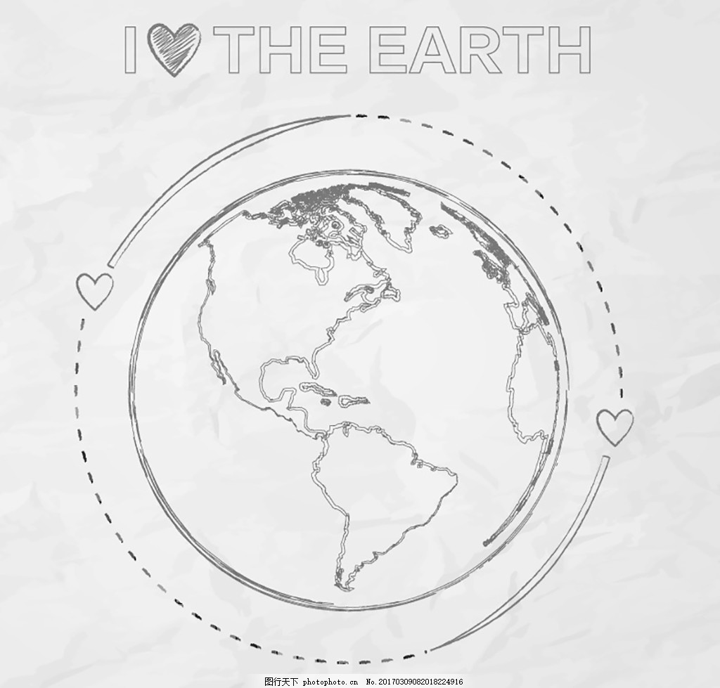 地球手绘画图片