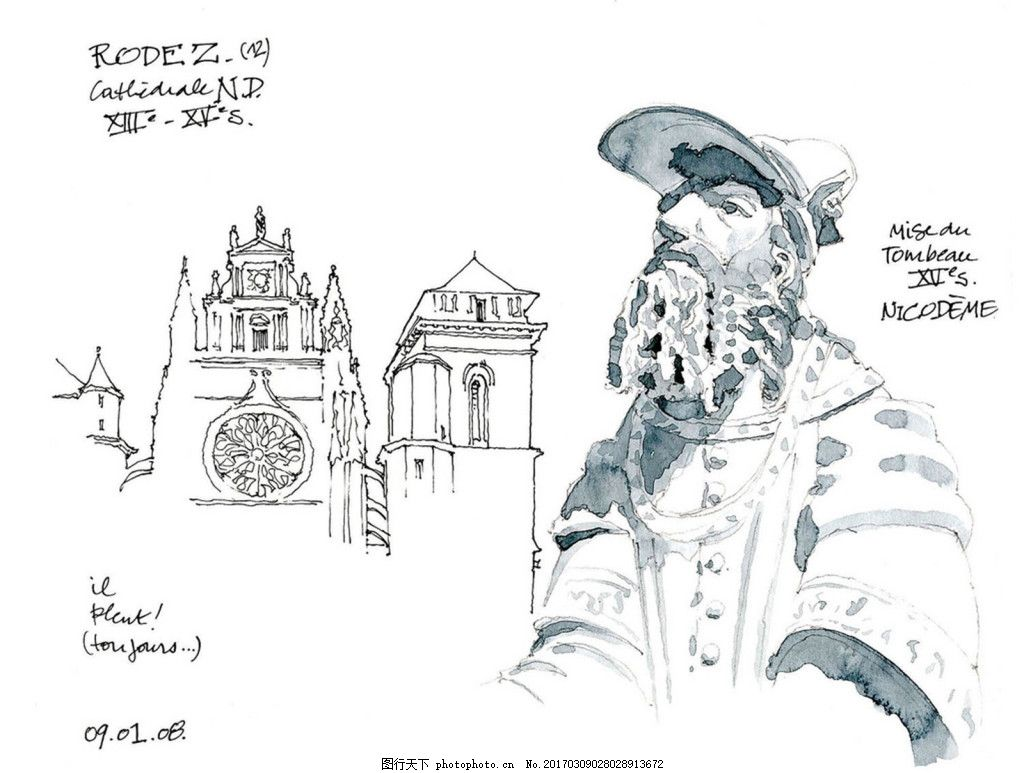 欧式著名建筑 建筑平面图素材免费下载 手绘图 图纸 城堡 建筑施工图
