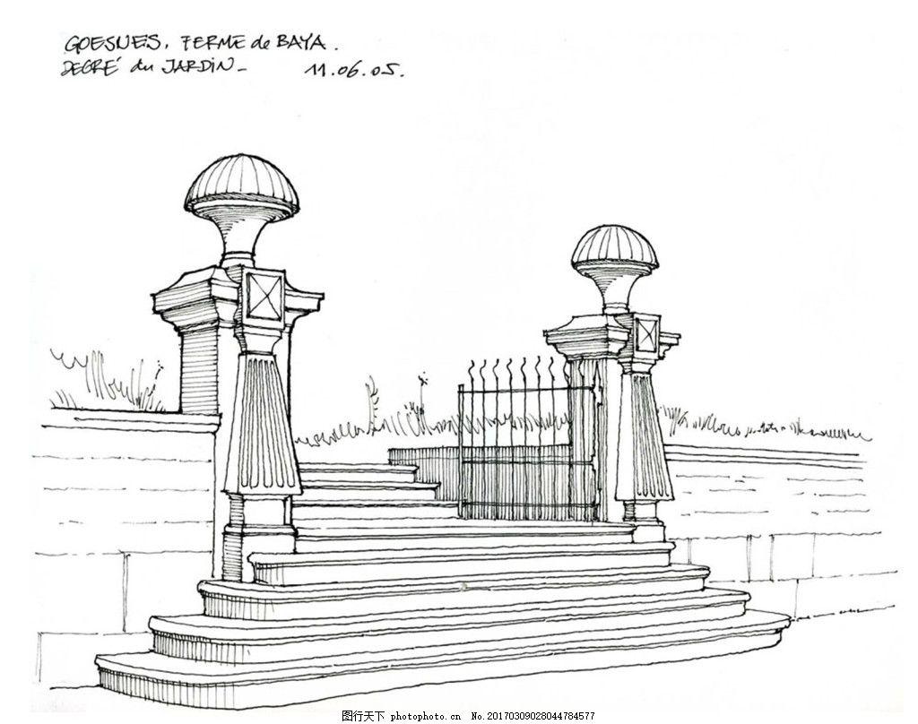 jpg 城堡 建筑施工图 建筑平面图 欧式建筑 建筑效果图 大门 楼梯 石