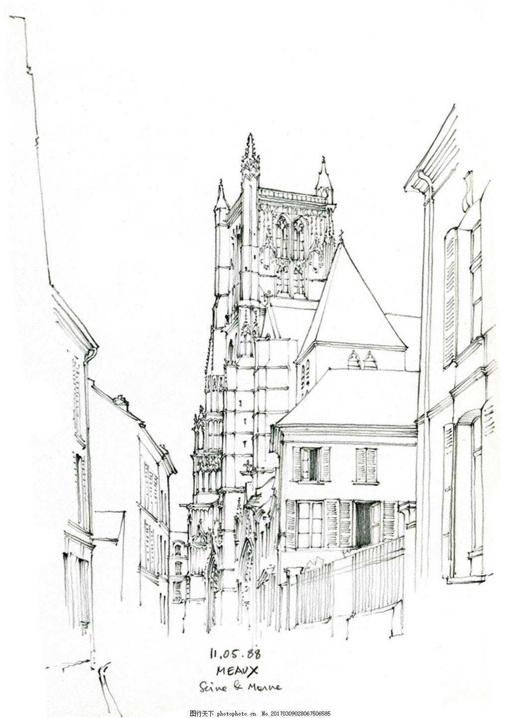 欧式建筑效果手绘图