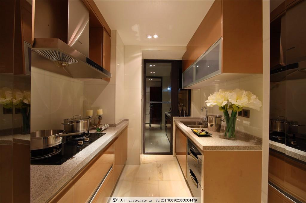 现代厨房装修效果图 室内装修 现代装修 室内设计 家装效果图 欧式