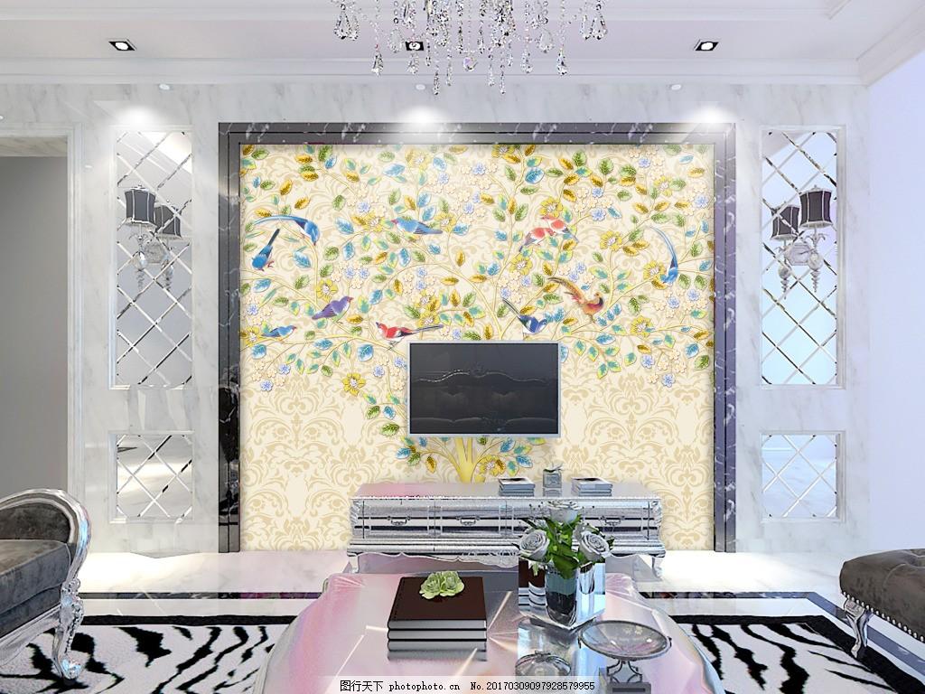 花卉元素背景墙 装饰背景 壁纸 风景 高分辨率图片 高清大图 建筑