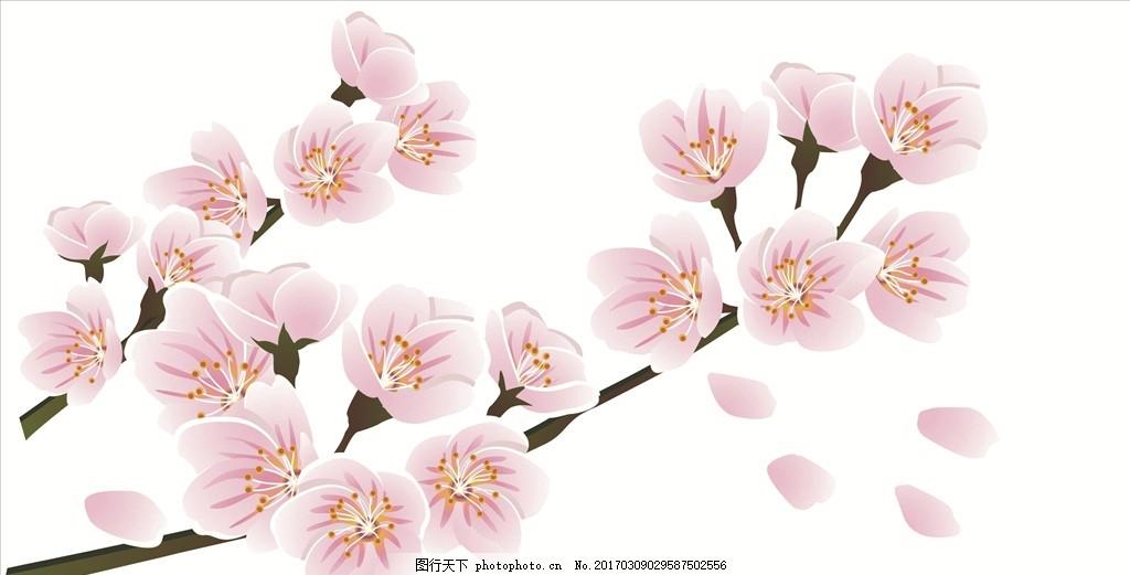 卡通梅花 梅花 花朵 树枝 可爱卡通 设计 广告设计 广告设计 tif