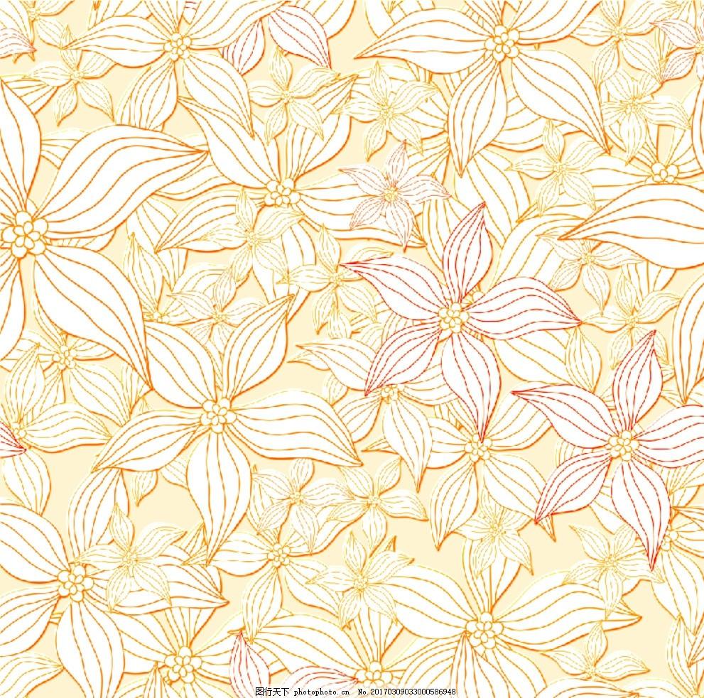 欧式花朵墙纸壁纸 精美花朵 花边花纹 手绘花朵 墙贴 客厅床头沙发