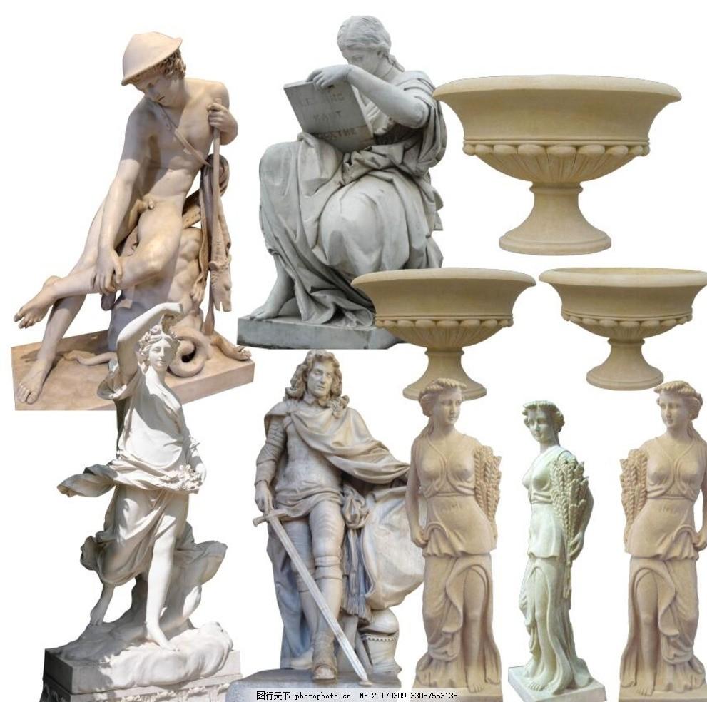 雕塑设计手绘三视图