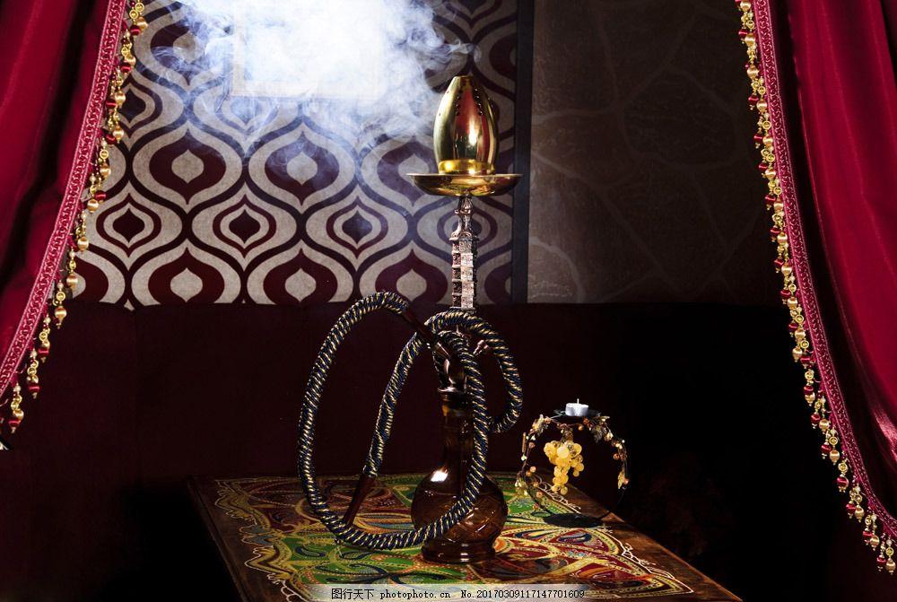 桌子上的水烟壶 桌子上的水烟壶图片素材 性感美女 外国女人 水烟烟管
