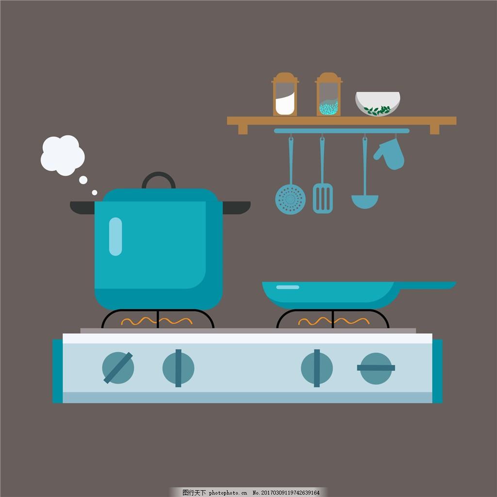 扁平化字体卡通v字体无衬线英文厨具图片