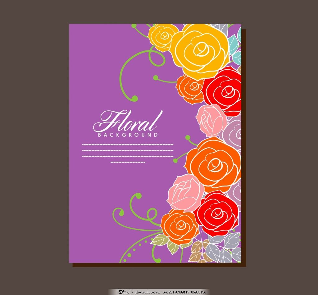 唯美手绘玫瑰花卡片 唯美卡片 手绘花卉 矢量素材 婚礼 婚庆卡片