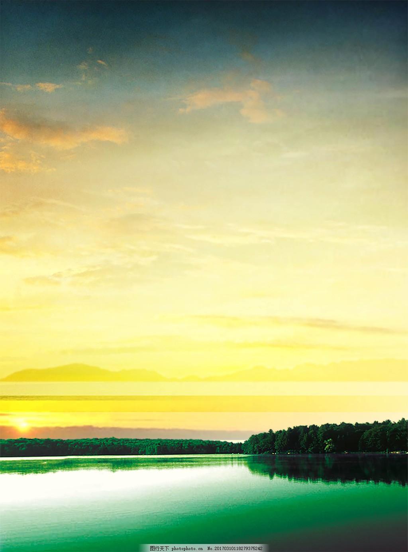 自然黄昏风景边框