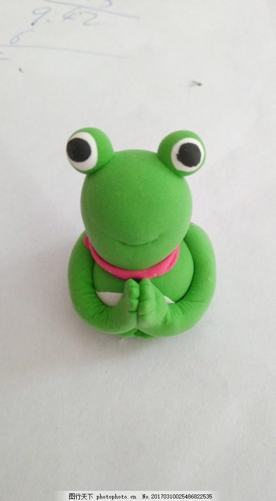 信佛的青蛙 虔诚 橡皮泥 绿色 摄影类 其他生物
