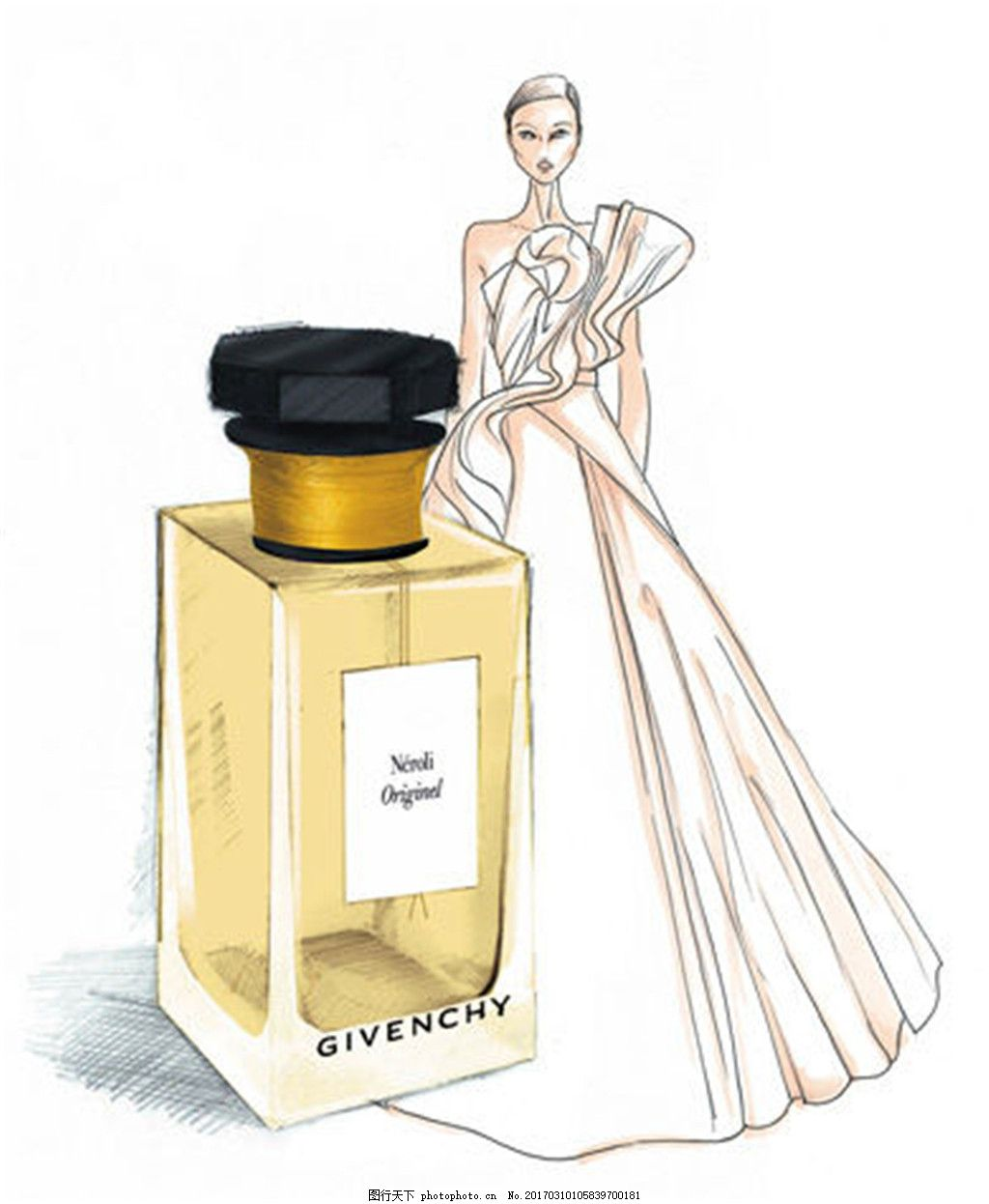 时尚长裙香水设计图