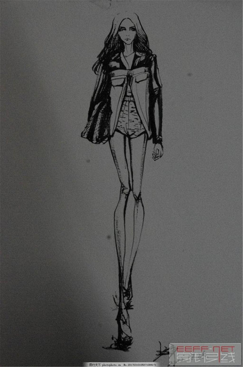 时尚女装设计手稿