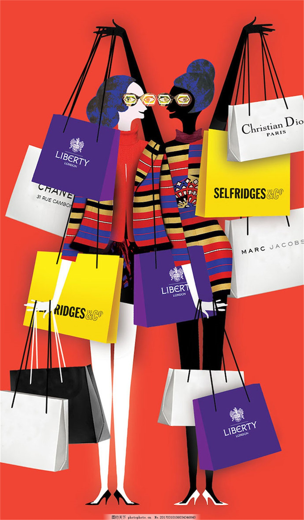 时尚购物袋设计图 手提包 包包 购物袋 手提购物袋 jpg 紫色 服装购物
