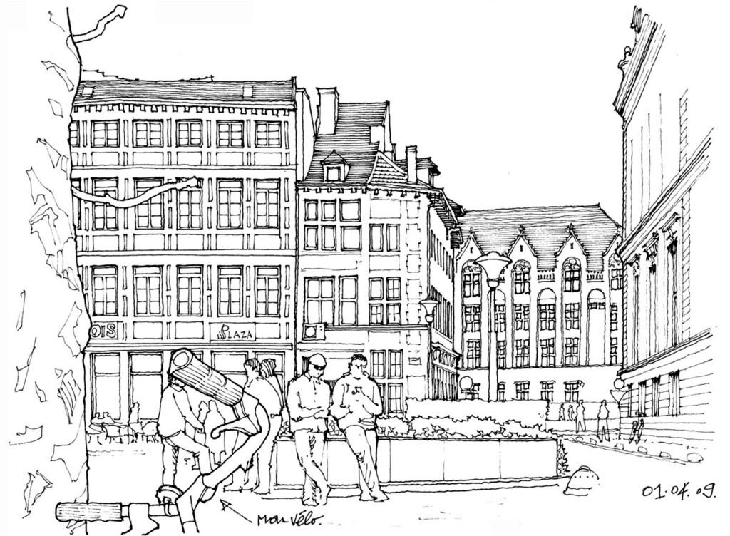 建筑街道效果图 建筑平面图素材免费下载 手绘图 图纸 城堡 建筑施工