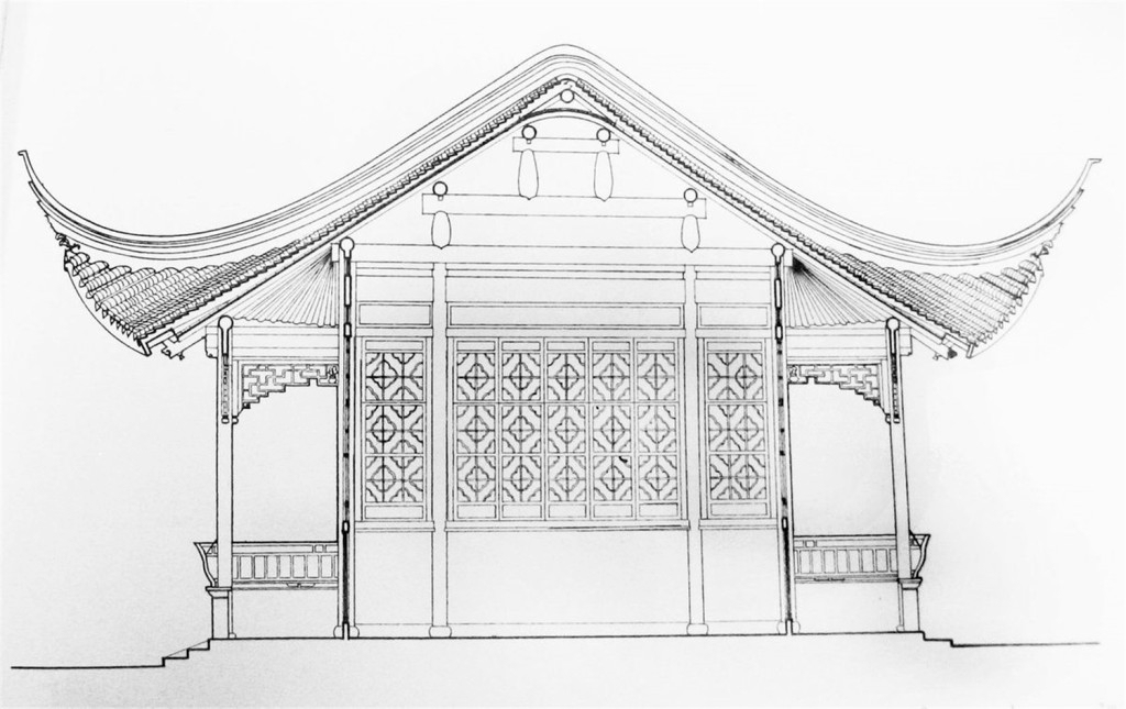 中式古建筑效果图 建筑平面图素材免费下载 手绘图 图纸 城堡 建筑