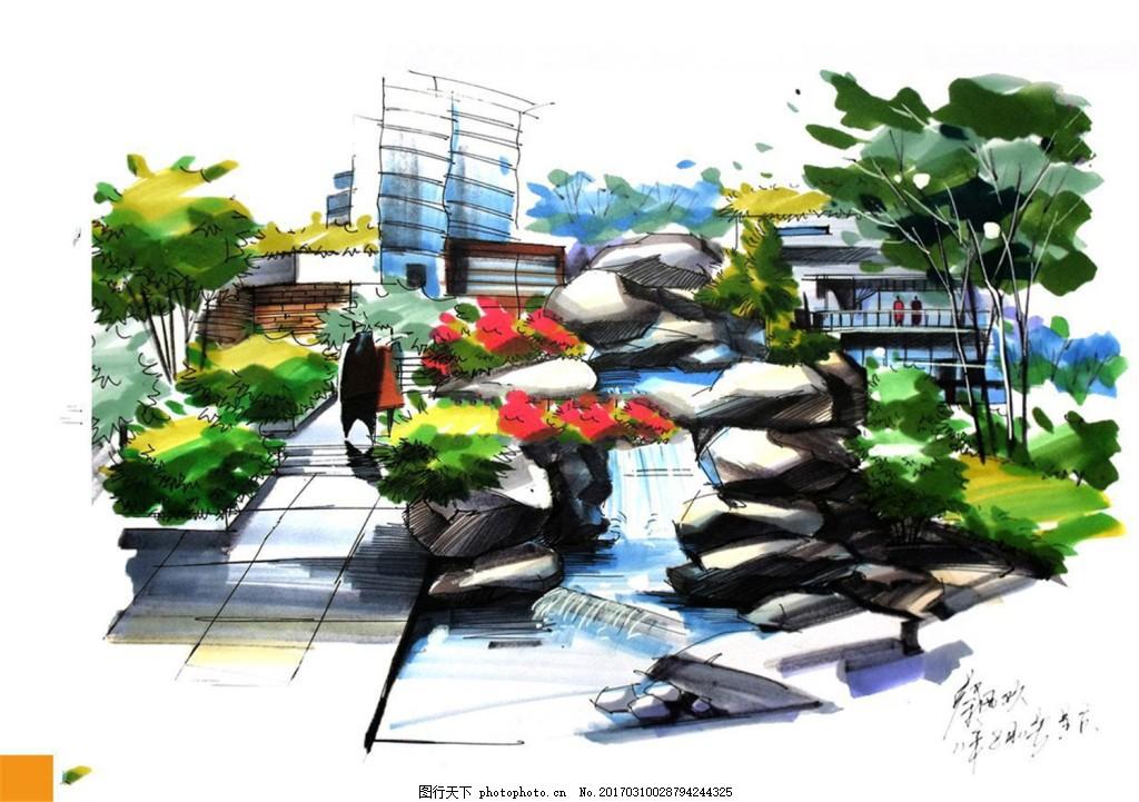 小区绿化效果图 建筑平面图素材免费下载 手绘图 图纸 城堡 建筑施工