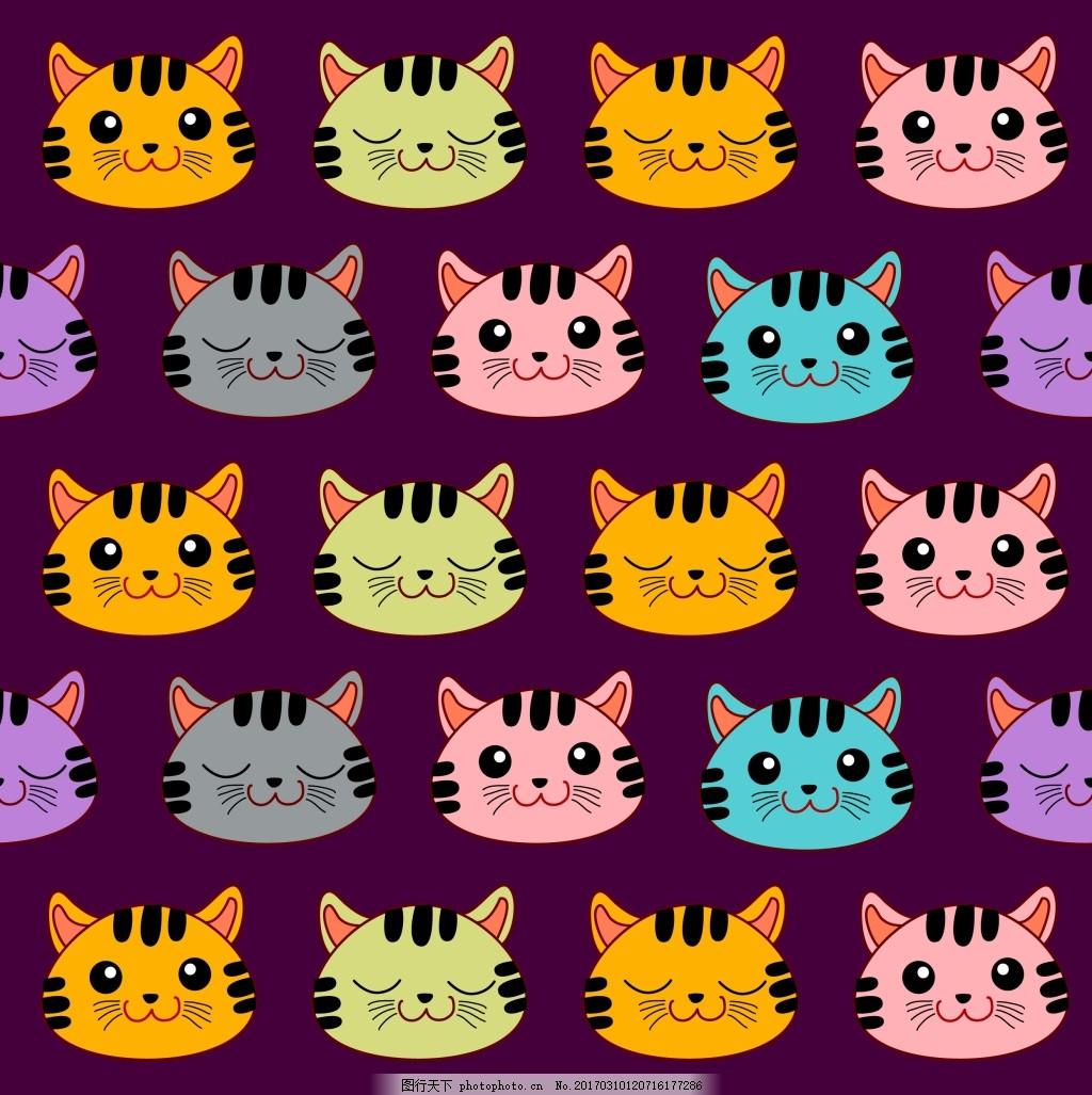 可爱小猫头像背景