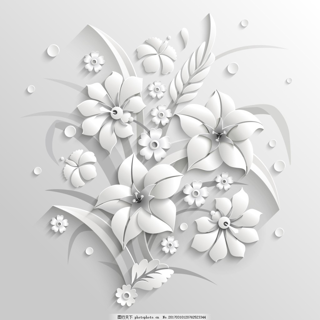 植物线稿抽象图