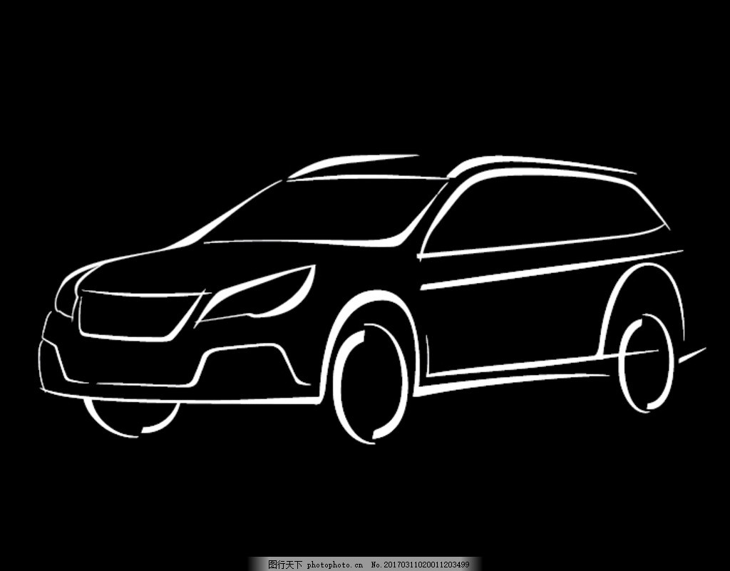 汽车怎么画简笔画正面