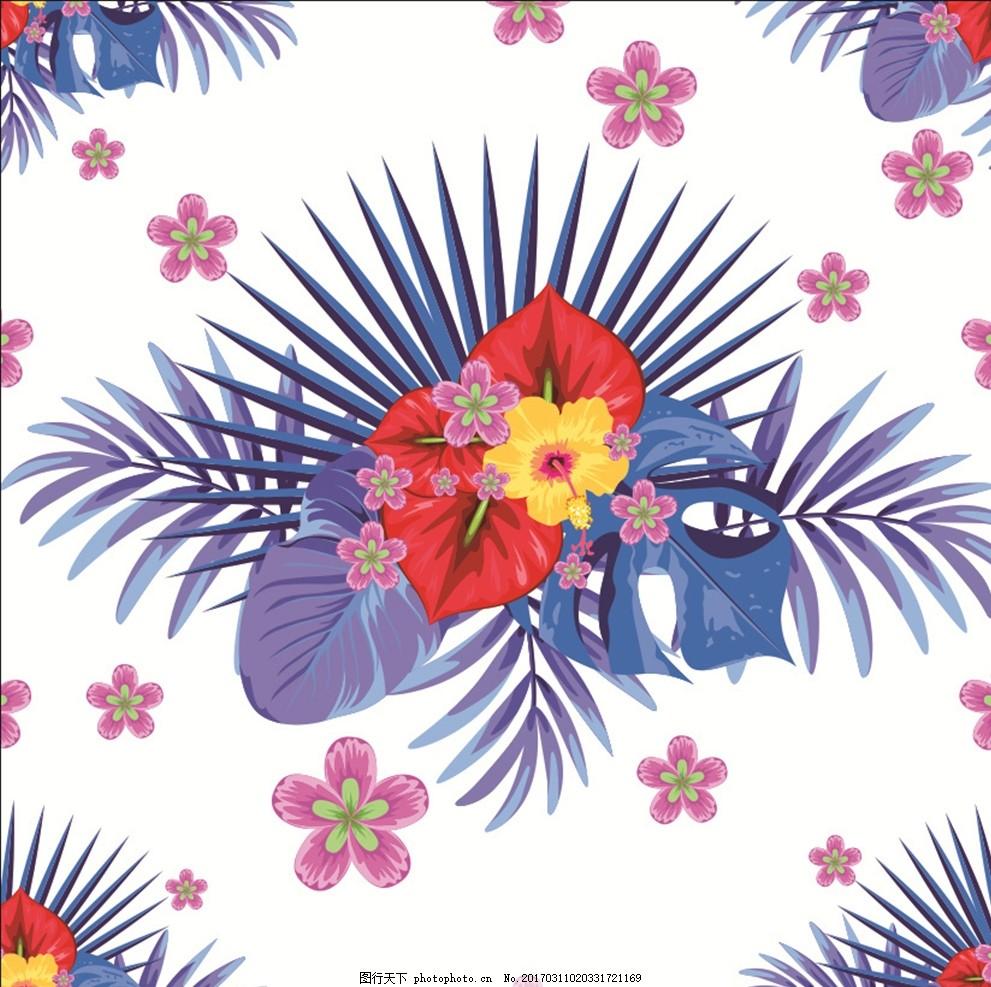 热带雨林植物花纹