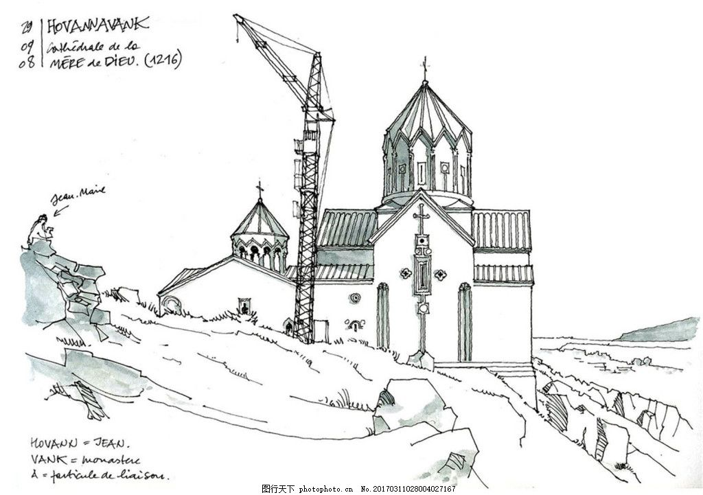 欧式建筑效果图 建筑平面图素材免费下载 手绘图 图纸 建筑 平面图