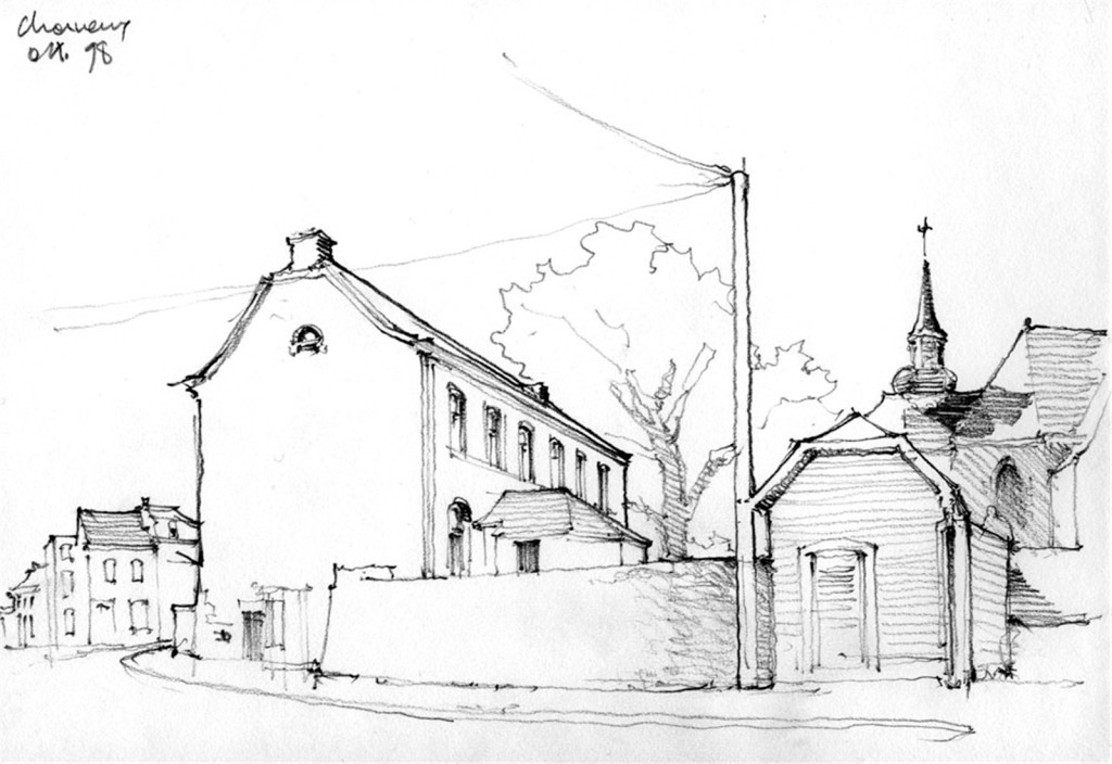 欧式街道房子建筑效果图
