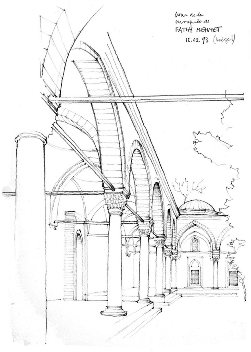 欧式拱门建筑效果图 建筑平面图素材免费下载 手绘图 图纸 城堡