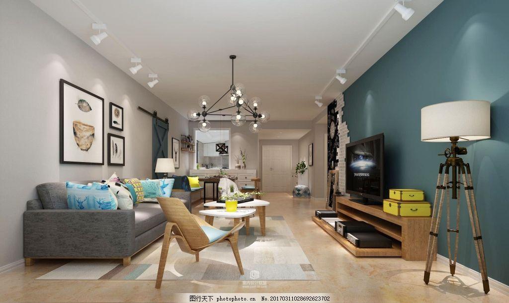 北歐風格家裝 北歐風格 家居設計 客廳效果圖