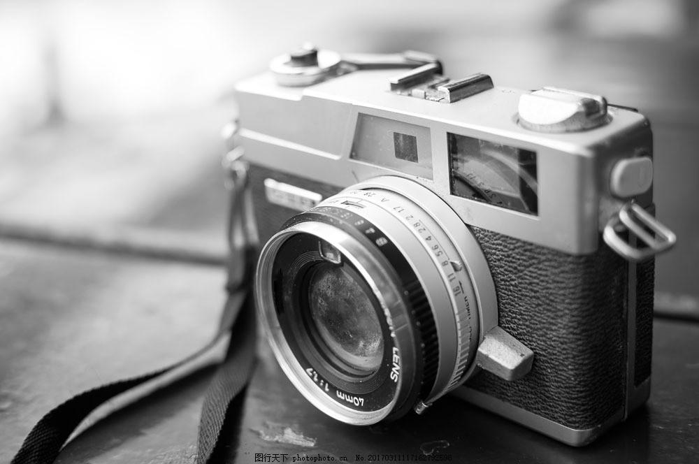 黑白照相机 黑白照相机图片素材 卡片机 数码相机 单反照相机 单反