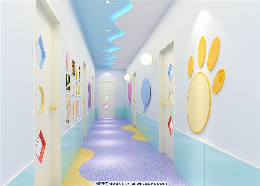幼儿园过道效果图 学校
