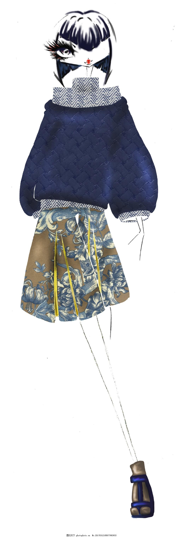 毛衣短裙女装设计图 服装设计 时尚女装 职业女装 职业装 女装设计