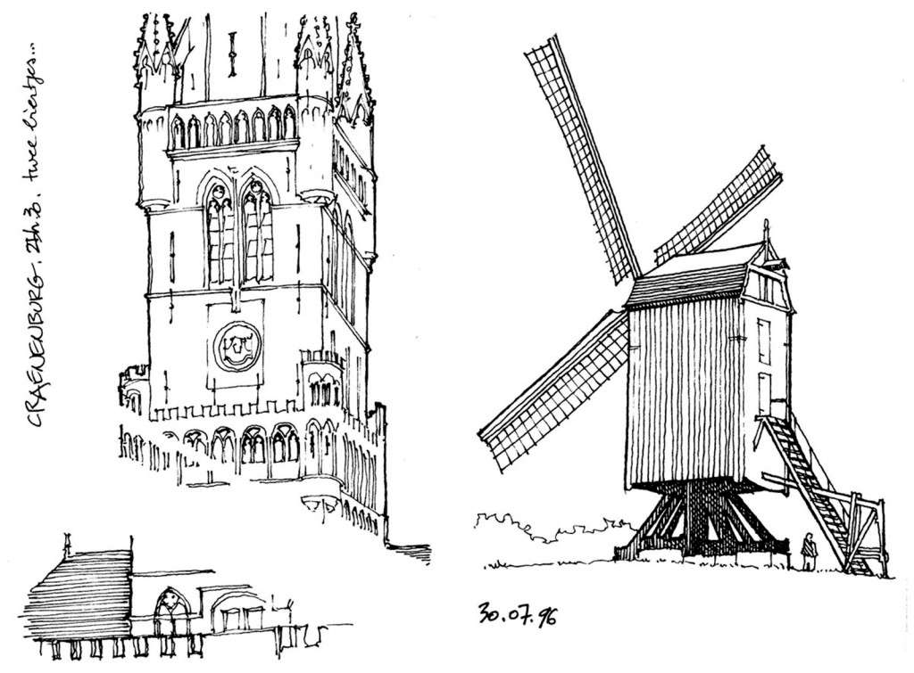 欧式标志性建筑效果图 建筑平面图素材免费下载 手绘图 图纸 城堡