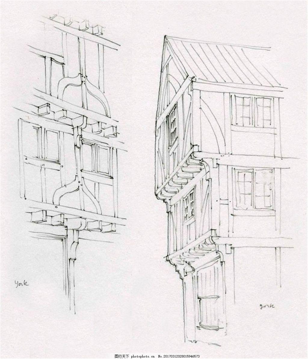 线条欧式建筑效果图 建筑平面图素材免费下载 手绘图 图纸 城堡