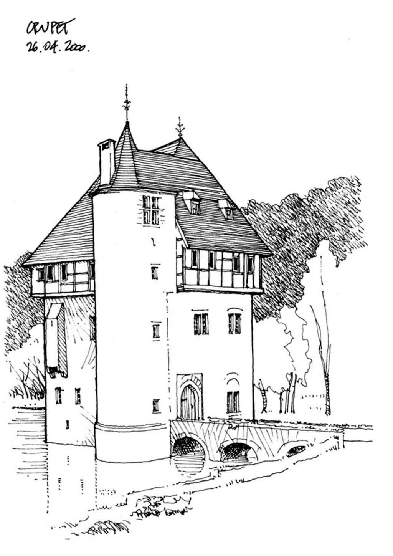 乡村欧式建筑效果图