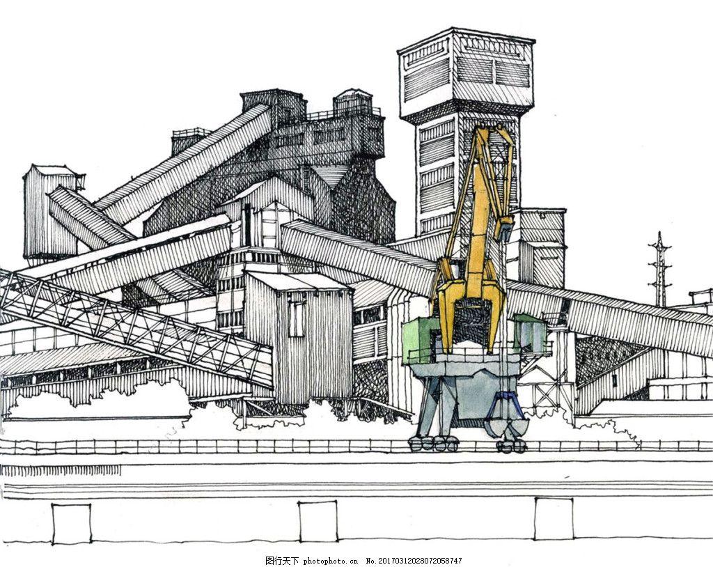 欧式工业建筑效果图 建筑平面图素材免费下载 手绘图 图纸 建筑 平面