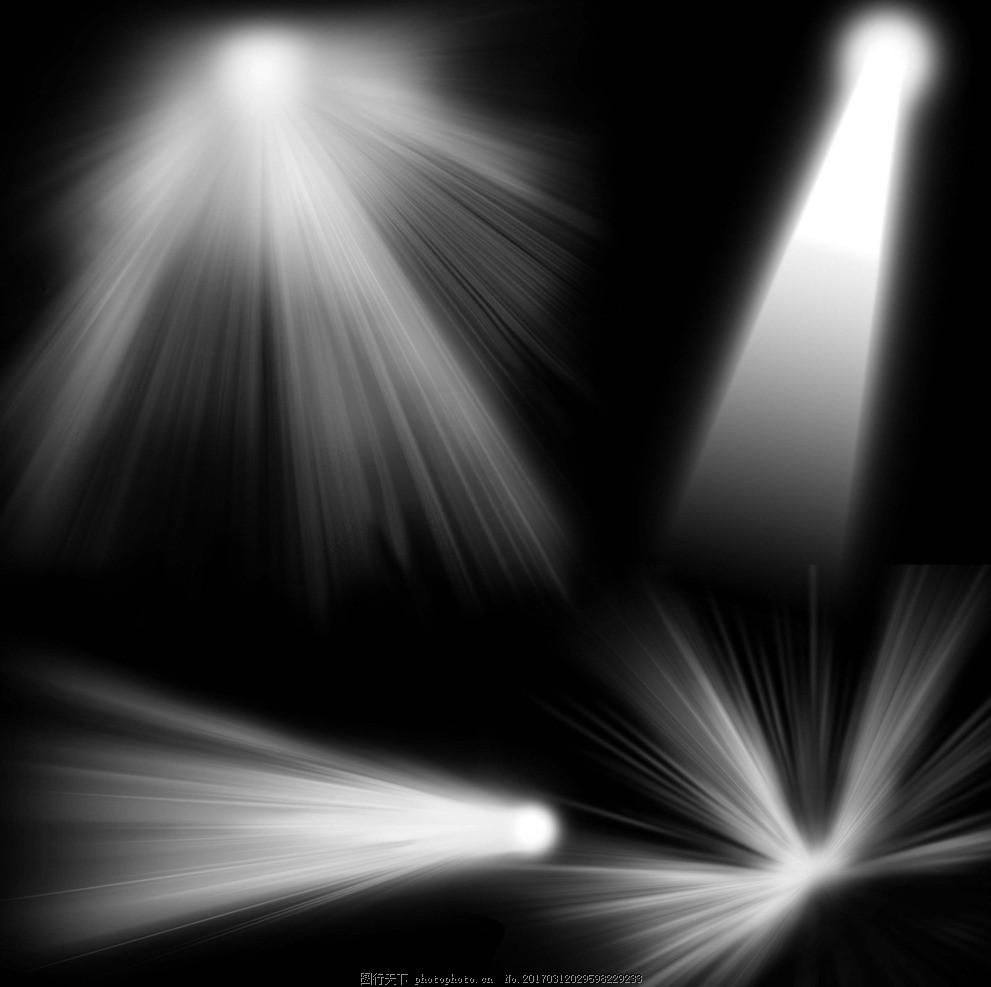 白色星光 放射状 发光体 光线效果 舞台光效果 灯光素材 闪光灯